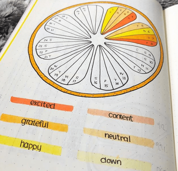 What is a Bullet Journal - Mood Tracker by @shemeetspaper