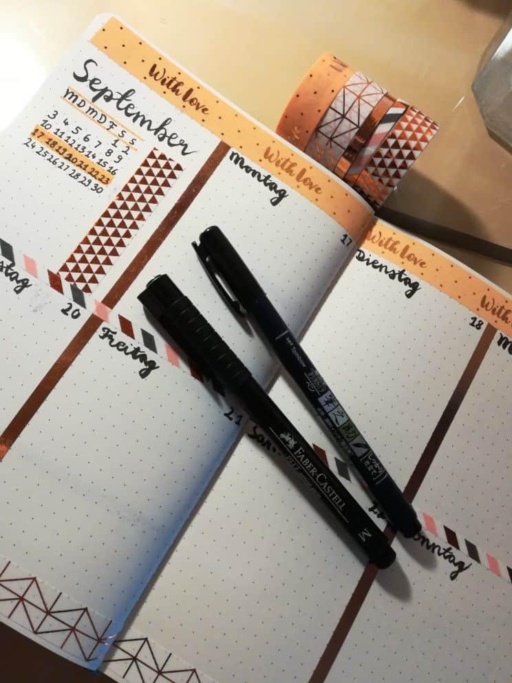 Bullet Journal - Washi Tape Calendar