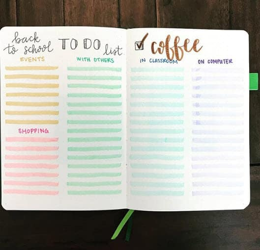 Bullet Journal Spreads - To-do List