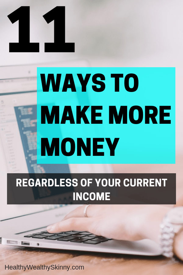 Finance | Cutting your expenses will only save you so much money.  In order to boost your finances you must make more money. Learn ways to make more money regardless of your current income. #makemoremoney #makeextramoney #personalfinance #savingmoney #increaseincome #sidejobs #healthywealthyskinny #HWS
