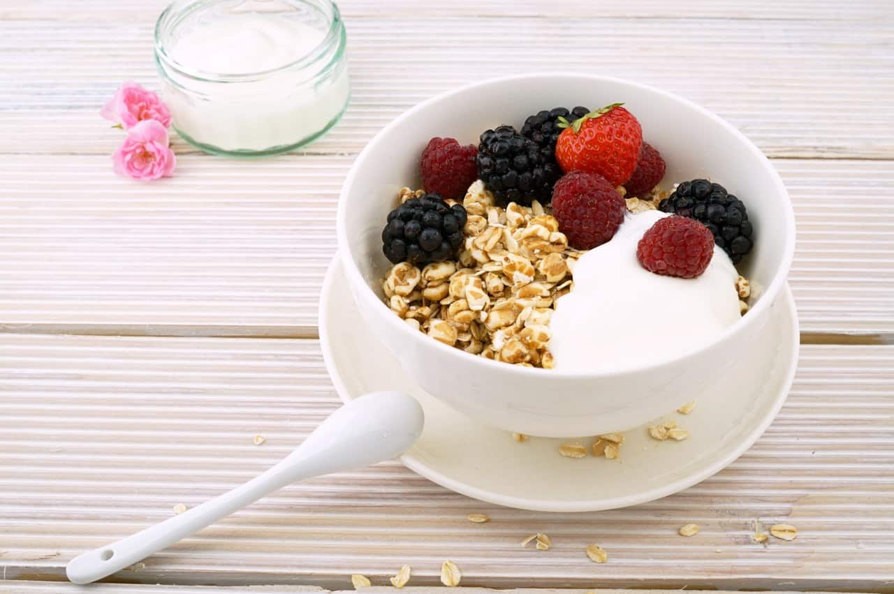 Breakfast on the Go - Oats make for an easy balanced breakfast.  They contain fiber and protein.  Paired with different fruits they make a tasty breakfast option.