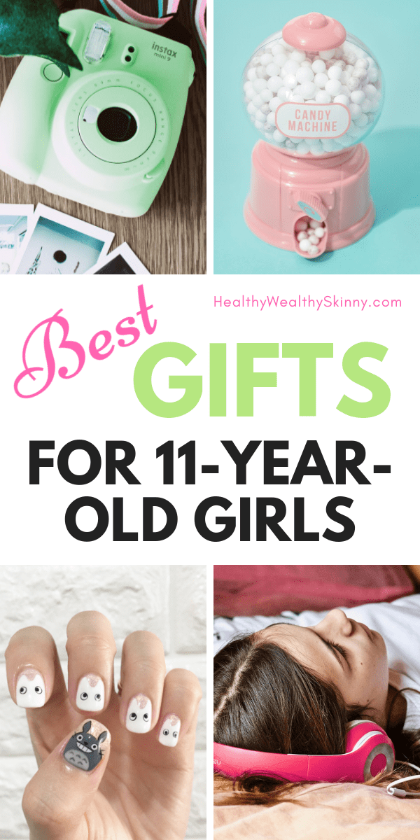 Best Gifts For 11 Year Old Girls | You'll love this up to date gift buying guide for 11-year-old girls.  Find the perfect electronic, beauty, craft, or room decor gift for your pre-teen girl. #giftsforgirls #giftsfor11yearoldgirls #preteengifts #preteengirls #girlschristmasgifts #girlsgiftideas #HWS #healthywealthyskinny