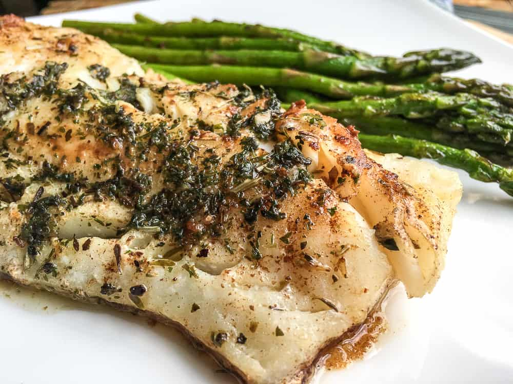 Super Easy Atlantic Cod with Garlic-Herb Butter