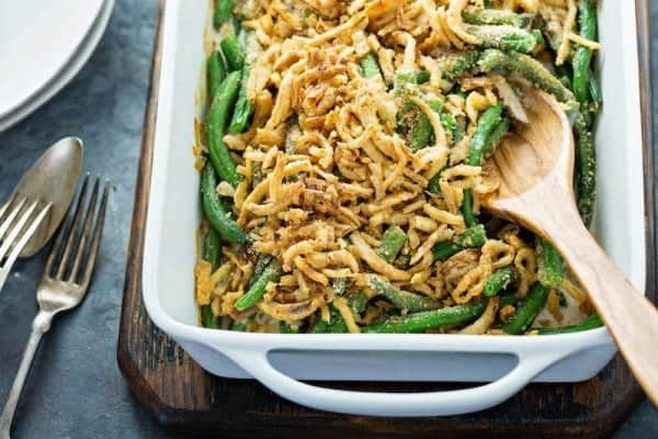 Great Twists to Traditional Christmas Dinner - Green Bean Casserole by The Novice Chef Blog