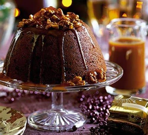 Great Twists to Traditional Christmas Dinner - Blitz & Bake Sticky Toffee Christmas Pudding from BBC Good Food