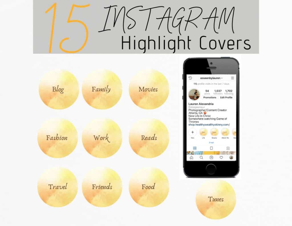 Free Instagram Highlight Covers - Spice up you IG account by following the lead of your favorite Instagram Influencers.  Find out how to create instagram stories and how to save them as instagram story highlights.  Get a set of free Instagram Story Highlight icons to use on your IG account.  Then browse our inventory of IG Story Highlight covers from our shop. #ighighlightcovers #ighighlights #instagramstorycovers #instagramstoryicons #HWS #healthywealthyskinny