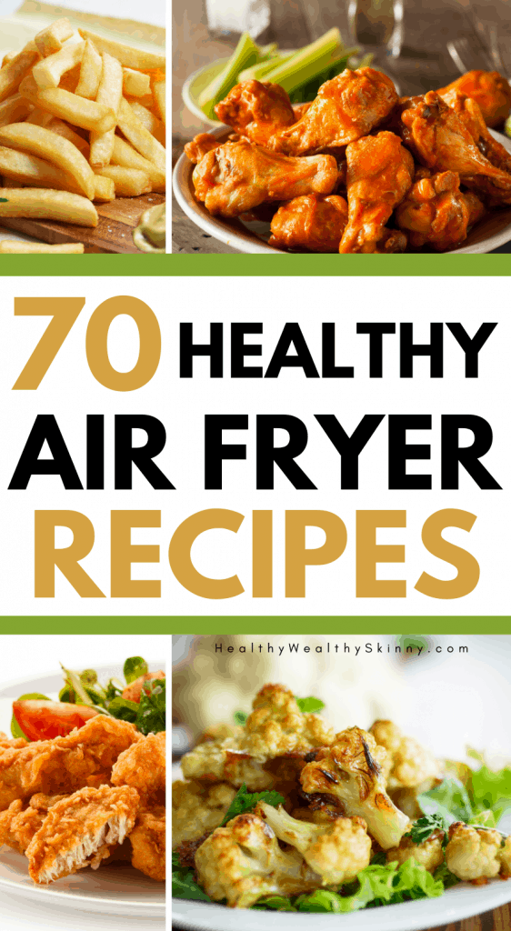 Air Fryer Recipes - get 70 plus healthy air fryer recipes. Air fryer recipes for breakfast, lunch, and dinner #airfryerrecipes