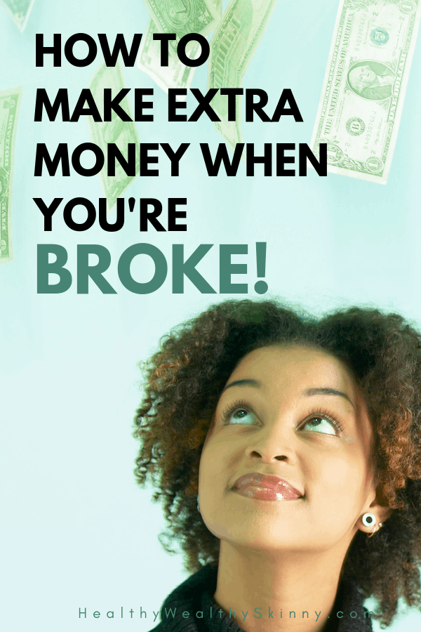 There are multiple reasons that you might be living paycheck to paycheck. But no matter the reason, if you are broke you need to make extra money. If you're looking for ways to make money fast without spending money then this post is for you. #makeextramoney #makemoneywithnomoney #whenmoneyistight #HWS #healthywealthyskinny