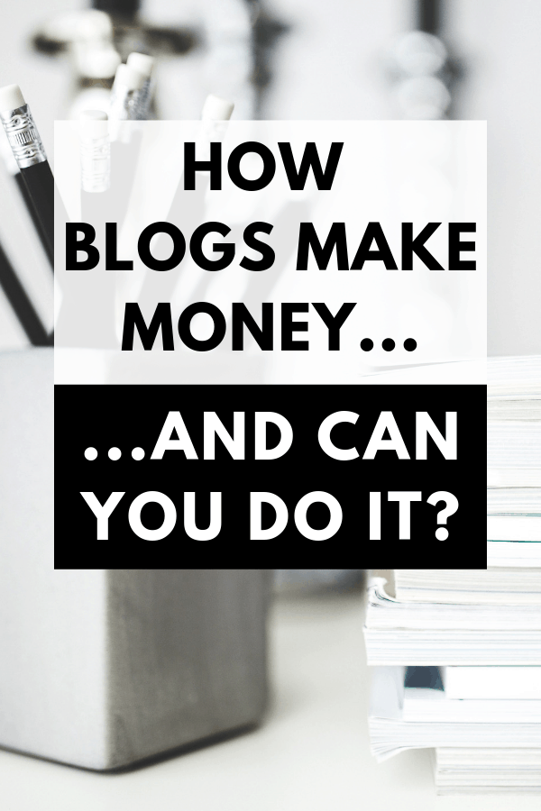 Have you ever wondered how do bloggers make money from blogging? Are there specific types of blogs that make money or can you make money blogging about anything? If you've ever been curious about blogging then you'll find this post very interesting. Find out how blogs make money and if you can do it too. #blogging #makemoneyblogging #affiliatemarketing #HWS #healthywealthyskinny