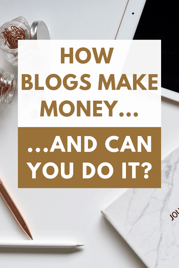 How Blogs Make Money | Have you ever wondered how do bloggers make money from blogging? Are there specific types of blogs that make money or can you make money blogging about anything? If you've ever been curious about blogging then you'll find this post very interesting. Find out how blogs make money and if you can do it too. #blogging #makemoneyblogging #affiliatemarketing #HWS #healthywealthyskinny