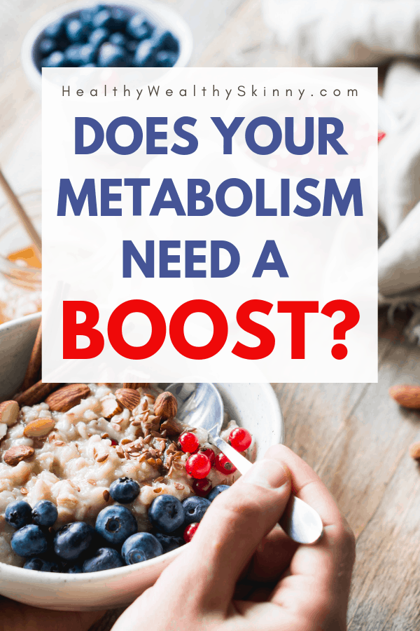 High Metabolism - Do you have a fast metabolism or a slow metabolism? Discover the signs of a high metabolism and the signs of a low metabolism. Find out your metabolism type and how to raise your metabolism with some metabolism boosting tips. #highmetabolism #fastmetabolism #raisemetabolism #lowmetabolism #slowmetabolism #HWS #healthywealthyskinnny