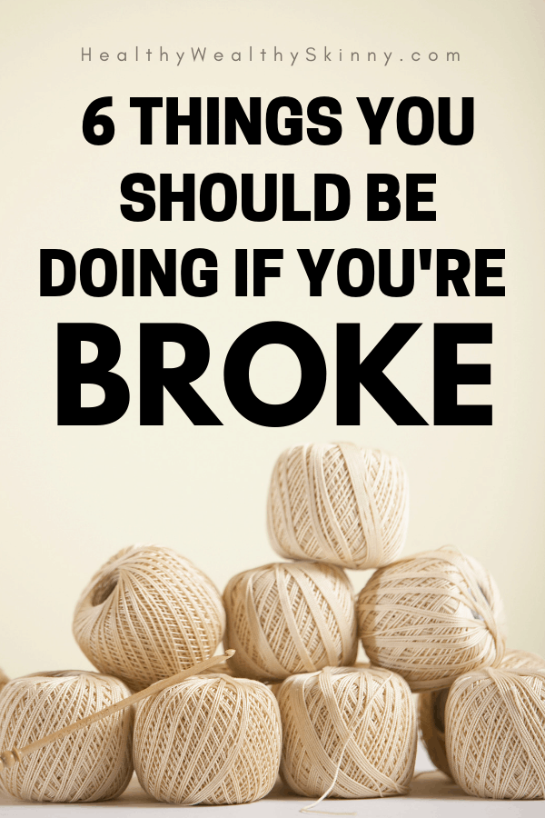 It might seem impossible to fix your finances, especially if you have financial problems due to low income. Discover the 6 things you need to be doing if you are broke and have a limited income. If your desire is to stop being broke these steps will help you with your current money issues and help you with saving money, budgeting, and all types of personal finance hacks. Stop living paycheck to paycheck. #HWS #healthyweathyskinny #personalfinance #financehacks #savingmoney #moneysavingtips