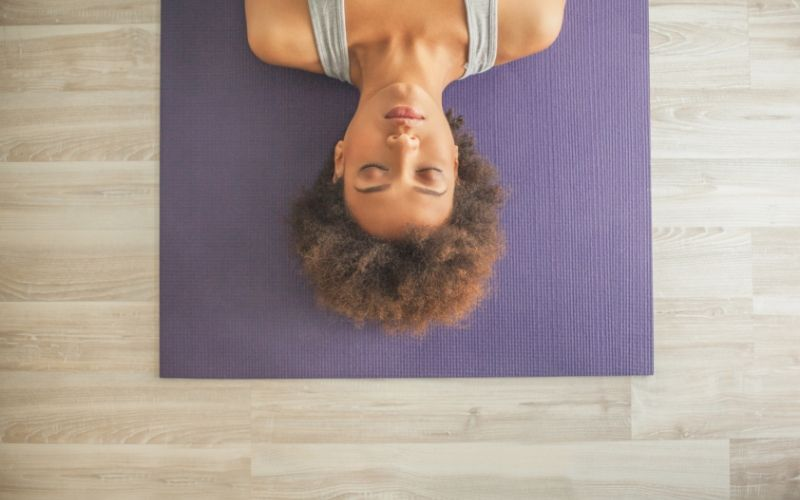 Yoga mat for sleeping on the floor