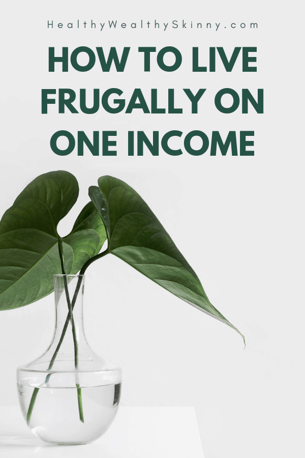 Living on one income can be a challenge. Especially if you have a growing family.  If you are a stay at home mom or stay at home dad, you have made a decision that will better your family.  Discover how to live frugally on one income. Living frugally and spending wisely will allow you to live well and not go without. #oneincome #frugalliving #frugallivingtips #stayathomemom #livingonalimitedget #HWS #healthywealthyskinny