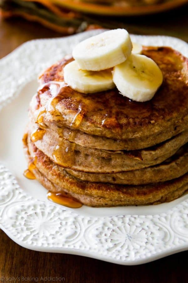 Whole Wheat Banana Pancakes by Sally's Baking Addiction