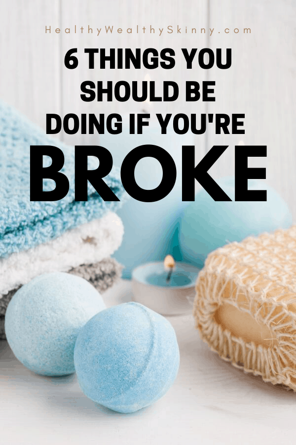 Being broke is something you can change. There are things that you can do if you are broke to help you save money, make more money, and get out of debt. Living paycheck to paycheck can be a thing of the past. If you feel like you are broke these are the steps you can take to fix your finances. These are great money tips for millennials. #moneytips #HWS #personalfinancetips