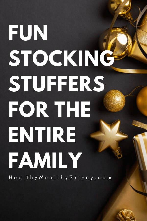 50 plus stocking stuffing ideas for everyone in your family. Stocking Stuffer Ideas - Stocking stuffers for women, Stocking Stuffers for Men, Stocking Stuffers for kids, stocking stuffers for her, stocking stuffers for him, Christmas gift ideas for family #stockingstuffers #Christmasgifts #HWS #healthywealthyskinny