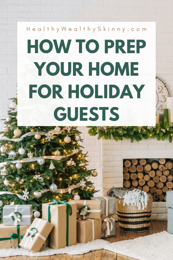The Thanksgiving and Christmas holiday season is the time for visitors and overnight guests. Discover how to get your home prepared for holiday guests with these holiday guest tips.  This holiday guest checklist you'll be prepared for planned and surprised guests. Prep your holiday guest room. Holiday guest home #holidayguests #guestroom #Christmas #Thanksgiving #HWS #healthwealthyskinny