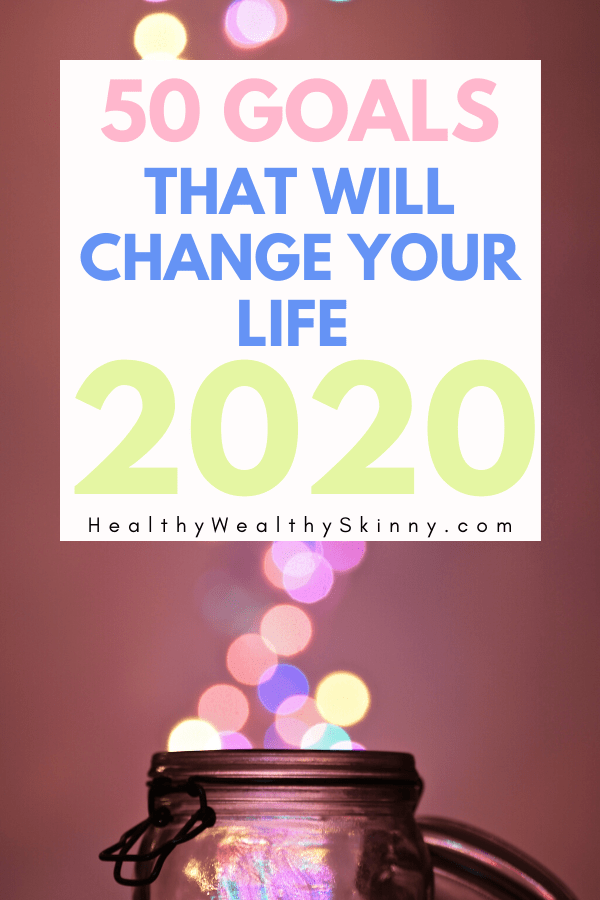 50 Goals to enhance your life in 2020 - The New Year is approaching so it's time to think about your life goals. Learn how to create SMART goals and new year's resolutions that you can keep. Live healthier, manage your finances, and build your family. #smartgoals #lifegoals #newyearsresolutionideas #HWS #healthywealthyskinny