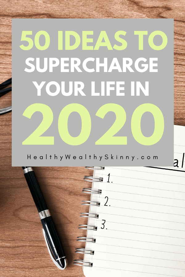 Get 50 New Year's Resolution ideas that will help you enhance your life in 2020. Learn how to create SMART Goals that you can achieve. Life goals. #smartgoals #lifegoals #newyearsresolutionideas #HWS #healthywealthyskinny