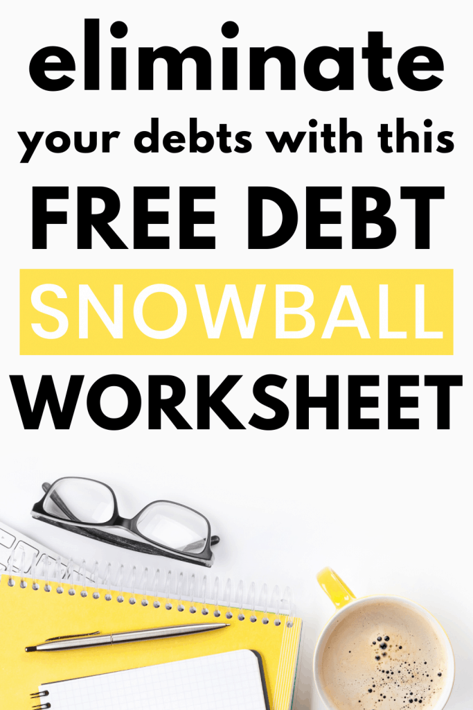 Download your free debt snowball worksheet and watch your debts vanish. This debt snowball spreadsheet is available in excel and google sheets formats. Pay off your debt using Dave Ramsey's debt snowball method. This automatic debt snowball spreadsheet will making tracking your debt payoff plan quick and easy. #debtsnowballworksheet #debtsnowballspreadsheet