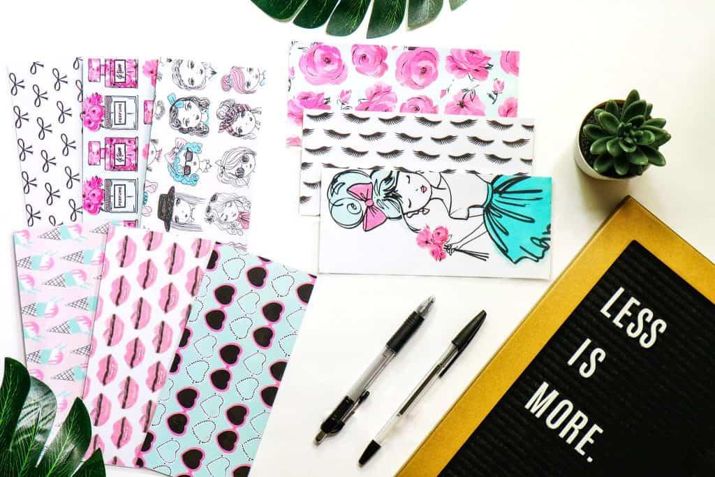 Cash Envelopes | Sinking Fund Envelopes | Laminated |Set of 9 | Dave Ramsey Budget Inspired - Pink Passport