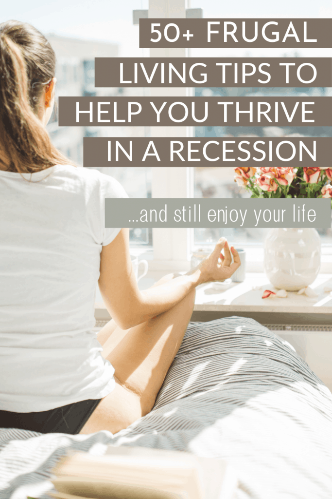 Frugal living tips that will help you in a recession.  Some of these tips for popular during the great depression while others will help you in your present day battle to save money and live on a low income. Frugal living hacks that will help you with saving money while still enjoying your life.