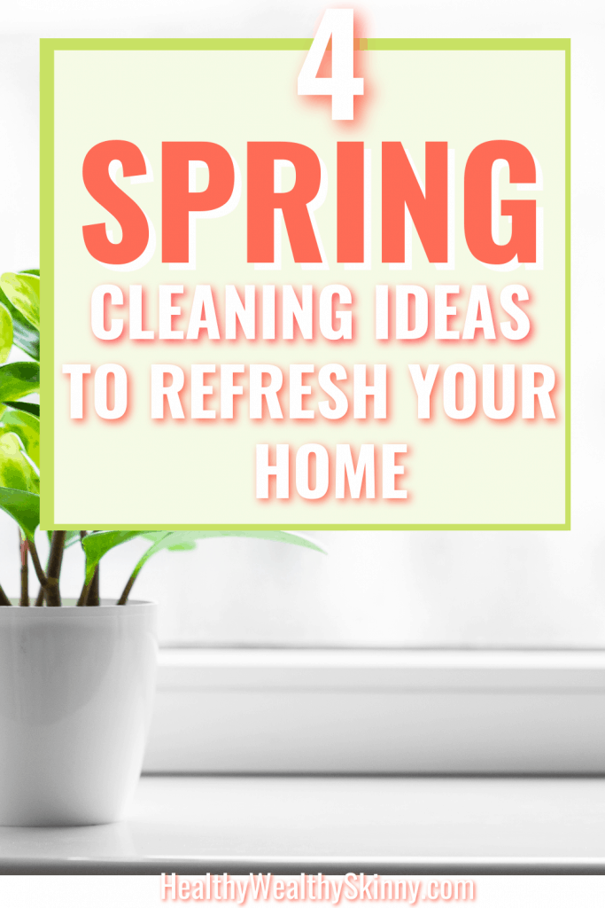 After a long winter, your home needs to be ready for Spring.  Discover 4 Spring cleaning ideas to refresh your home.